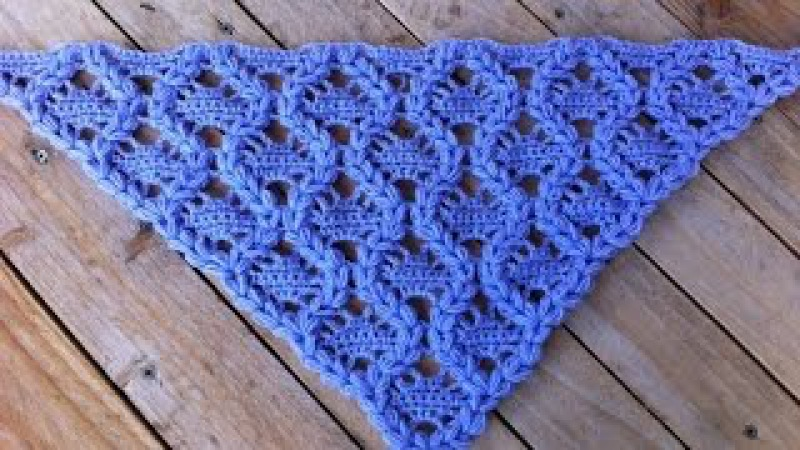 Châle couronnes crochet facile Crowns shawl crochet (english subtitles)