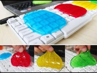 Гель для чистки клавиатуры, очиститель - Super Clean Magic Cleaner Gel (гелевый лизун-очиститель для компьютерной клавиатуры Cyber Clean) 0
