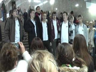 Нижний Новгород - хоровое пение в метро
