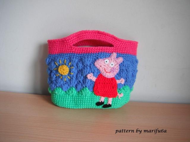 сумочка Свинка Пеппа Peppa pig крючком видео урок мастер класс от Marifu6a