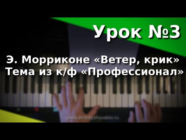 Урок 3 Э Морриконе Ветер крик тема из к ф Профессионал Курс Любительское музицирование