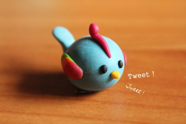 Как из пластилина сделать птичек 339