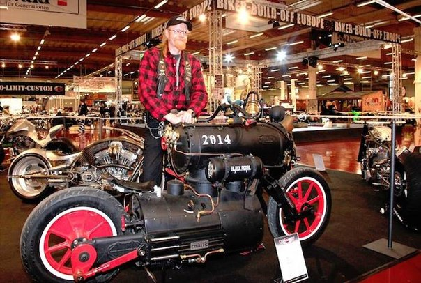 мотоцикл на паровом двигателе, Черная жемчужина