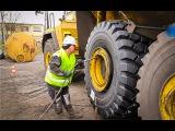 Как происходит бортировка колес весом более пол тонны!