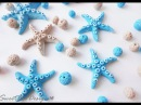 Tuto: Stelle marine e perle pietra pomice in fimo - ENG SUBS Fimo Starfish and pumice beads