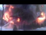 Пожар после взрыва в кафе в Измаиле сняли на видео