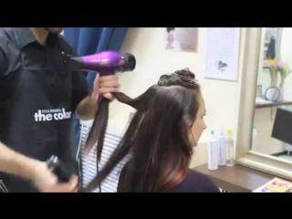 Окрашивание Шатуш на темных волосах в SPA салоне красоты Время Перемен