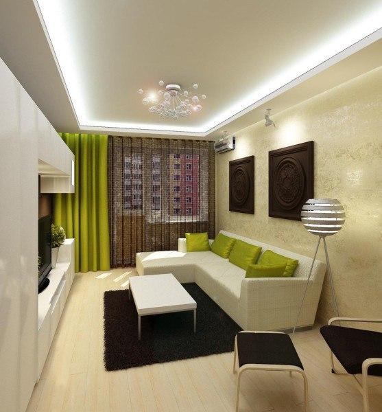 Интерьеры гостиной 18 кв м фото
