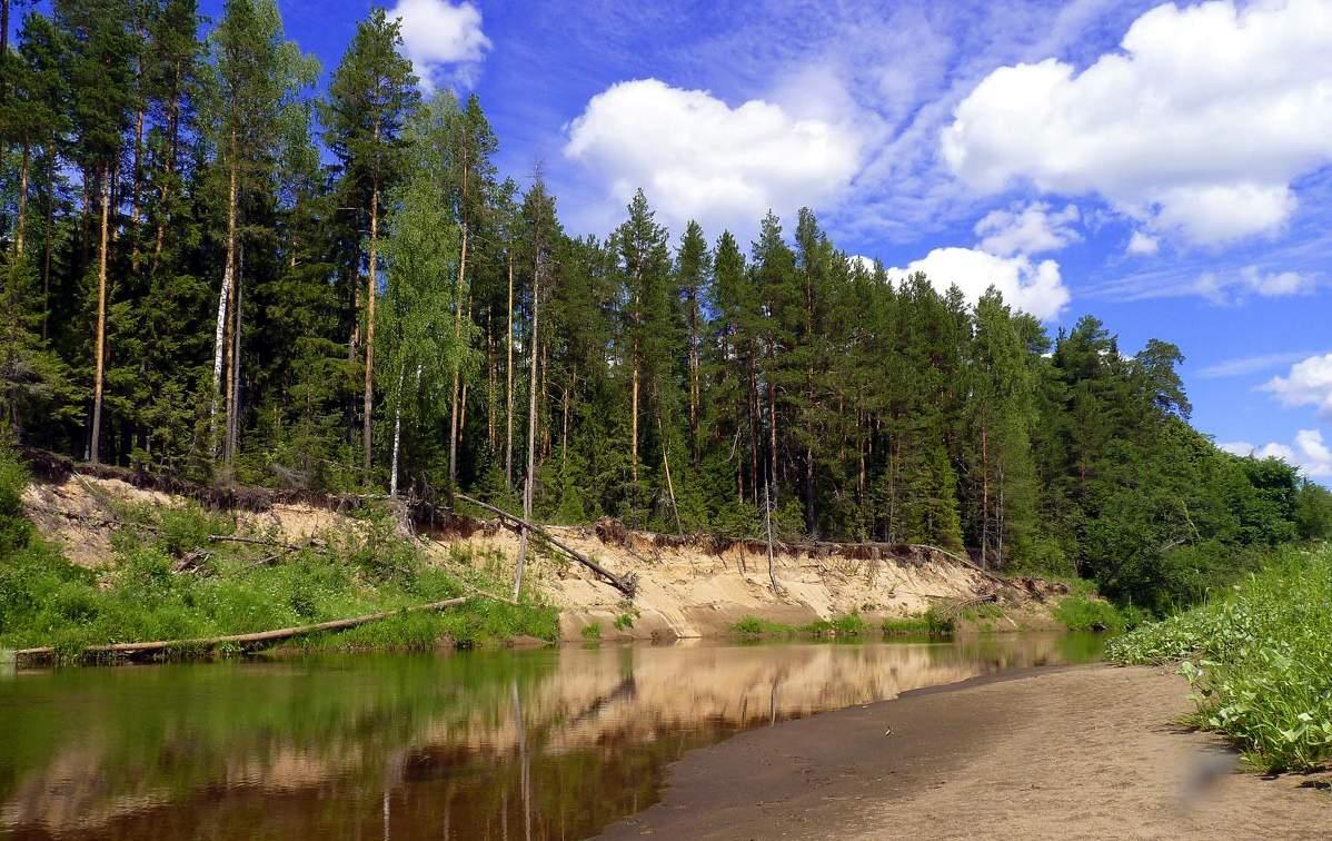 Вятская область. Река Лобань.
