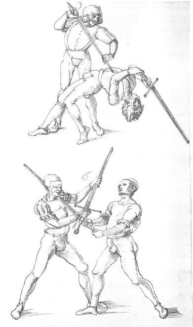 Альбрехт Дюрер. Фехтование и борьба.