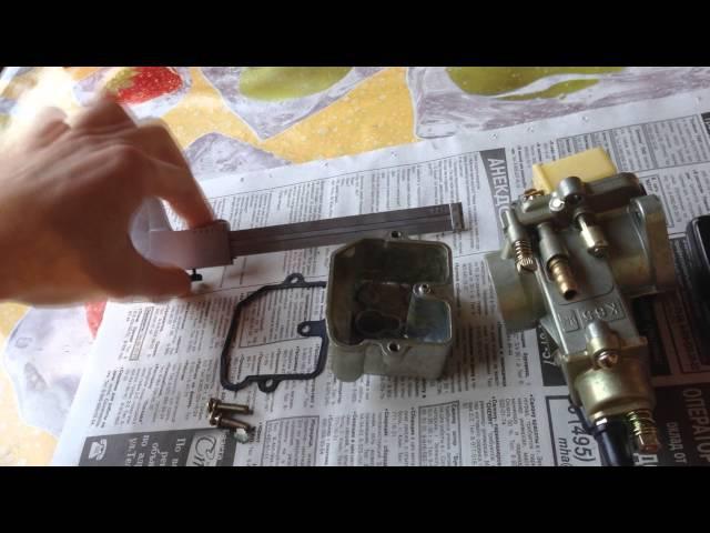 Обзор и регулировка уровня топлива на карбюраторе К65 Ж (модификация для снегохо ...