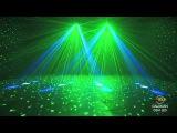 American DJ Galaxian Gem LED Moonflower / Laser DMX Disco Light @ AstoundedDotCom