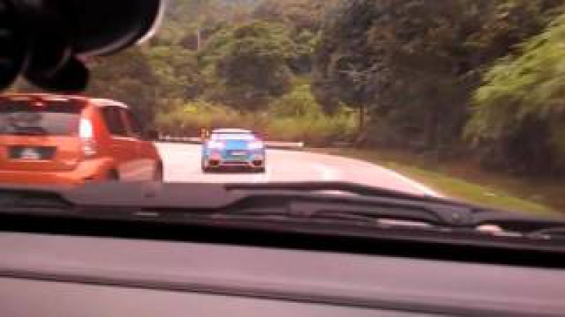 Nissan Skyline GT R R34 vs R35 vs Subaru Impreza WRX Malaysia Genting Hill Road Racing