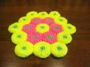 Коврик крючком Вязание коврика Мотивы крючком Витые столбики rug crochet