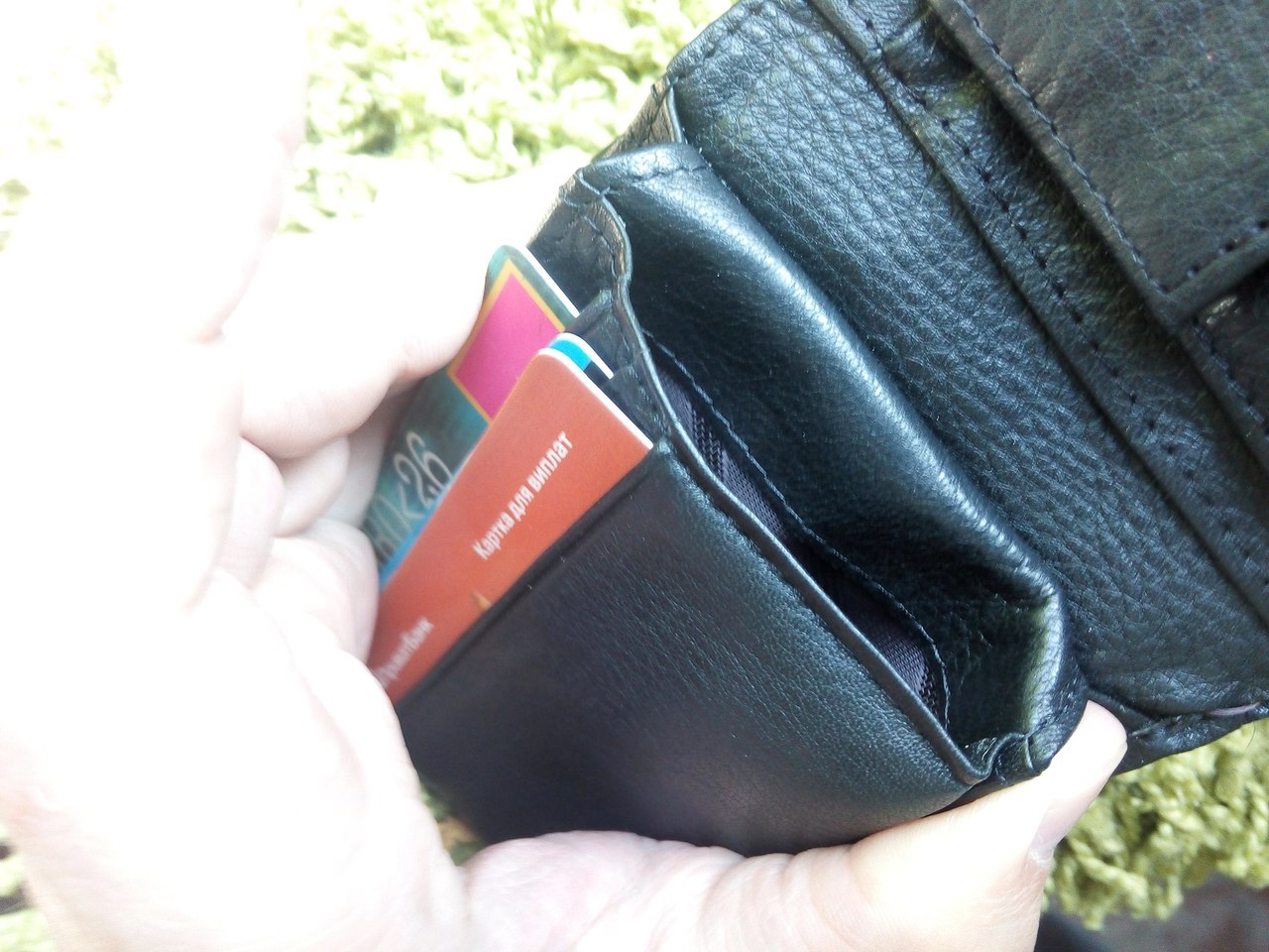 Aliexpress: Мужской кошелек из настоящей кожи с Алиэкспресса