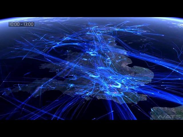 Сколько в небе самолетов? Карта полетов google flight map авиатрафик DC Shtatnov