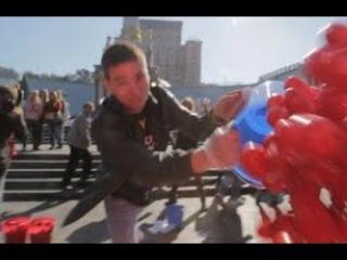 На Майдане закидали помидорами 24 депутатов не проголосовавших за антикоррупцию. Украина новости