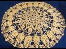 Салфетка крючком по схеме. Вязание салфетки. Ажурная салфетка. Ч. 1 (Crochet napkin. P. 1)