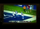 Michael Boley hits guy in face with football