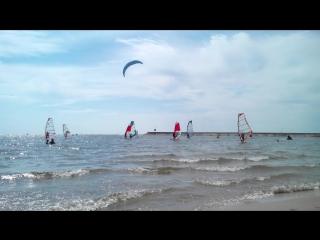 «Сибирская парусная регата». Соревнования по виндсерфингу и кайтсерфингу 2015г. Обское море.