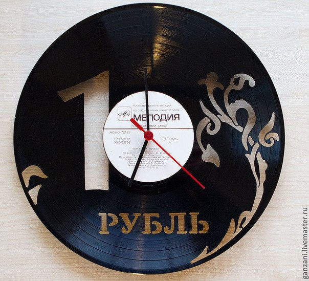 Часы из виниловых пластинок своими руками трафарет