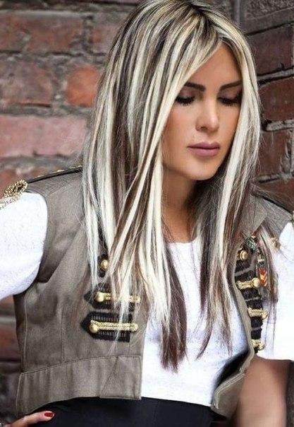 Контрастное окрашивание волос