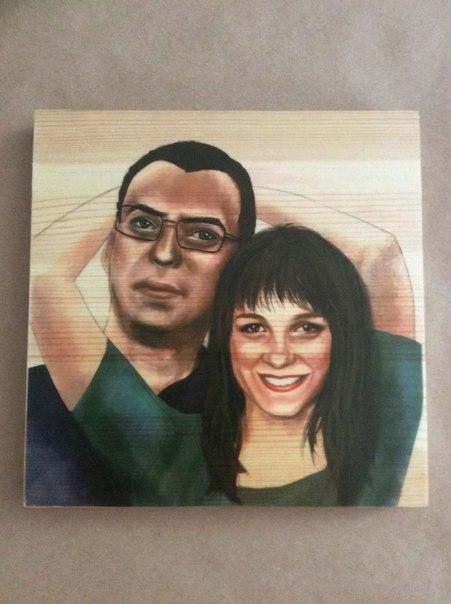 Рисуем портреты по Вашим фотографиям на дереве. Индивидуальный подход.