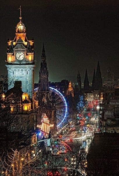 Ночной Эдинбург, Шотландия