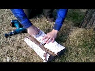 Как сделать нож из ролика от подшипника.