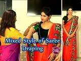 Mixed Style of Saree Draping by Dolly Jain