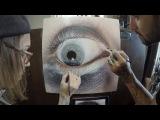 S6 Timelapse Hyper-Realistic Eyeball Painting wOda &amp Kit King