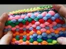 Коврик из пряжи. Пряжа помпон своими руками. Коврик крючком. (mat homemade yarn pom-poms)