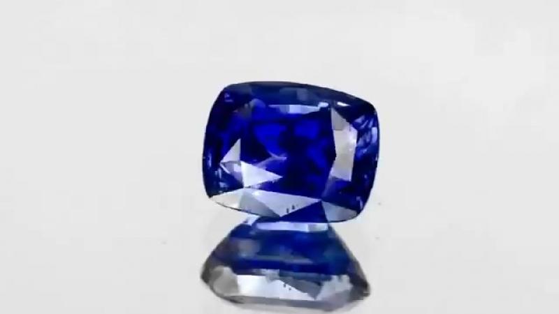 $60,000-5.02 Carat Unheated Cushion Natural Royal Blue SAPPHIRE GRS Not Enhanced