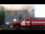 Июнь 2015. Ночной пожар в доме 43 по улице Павлова в г. Мурманск
