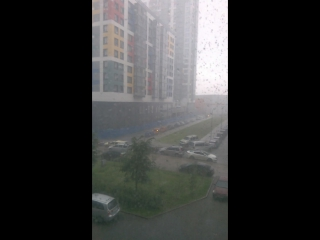 Дождь,град,гром и молния!