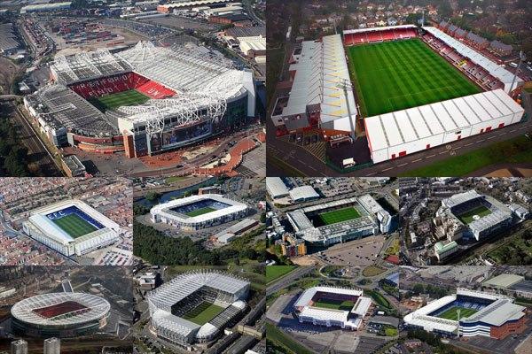 Стадионы и результаты 1 тура Английской премьер-лиги