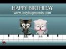 С днем рождения! видео-открытка с кошками