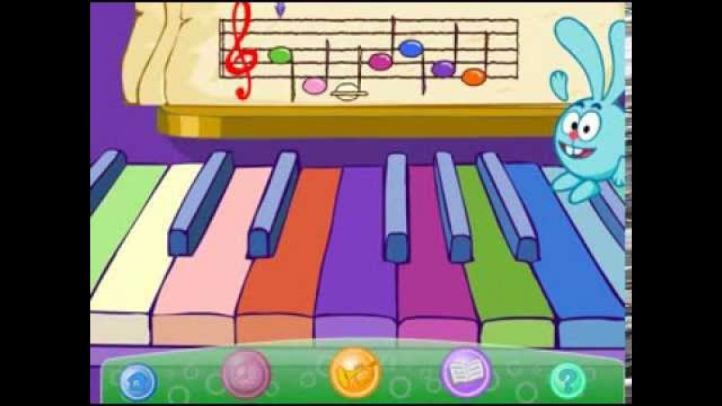 Смешарики Учим ноты и поем веселую песенку