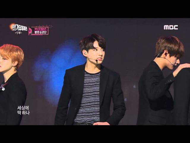 [2015 MBC Music festival] 2015 MBC 가요대제전 - BTS - I Need U RUN, 방탄소년단 - I Need U RUN 20151231