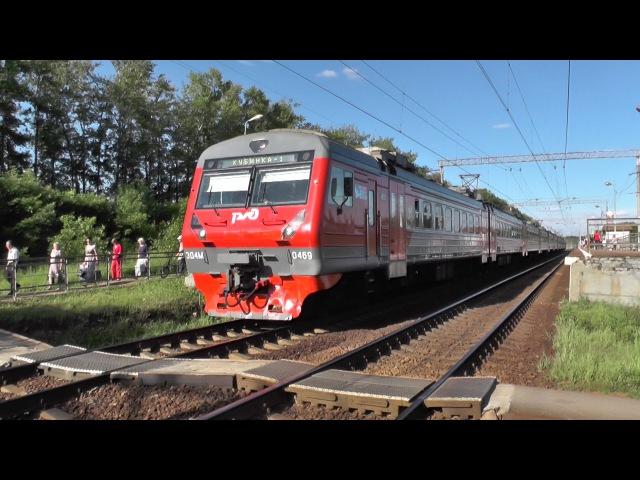 Электропоезд ЭД4М-0469 перегон Голицыно - Петелино