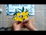 Hướng dẫn làm hoa mai vàng từ giấy nhún