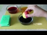 Как покрасить Яйца в Радужные Цвета