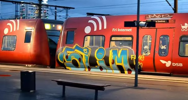 Copenhagen trainwriting