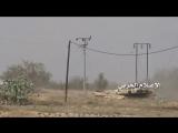 Саудовская Аравия.08.02.2016.административный округ Джизан.Подрыв танка М-1 Абрамс ВС КСА