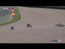 Видео столкновения между Рабатом и Морбиделли в гонке Moto2 Гран-При Германии 2015