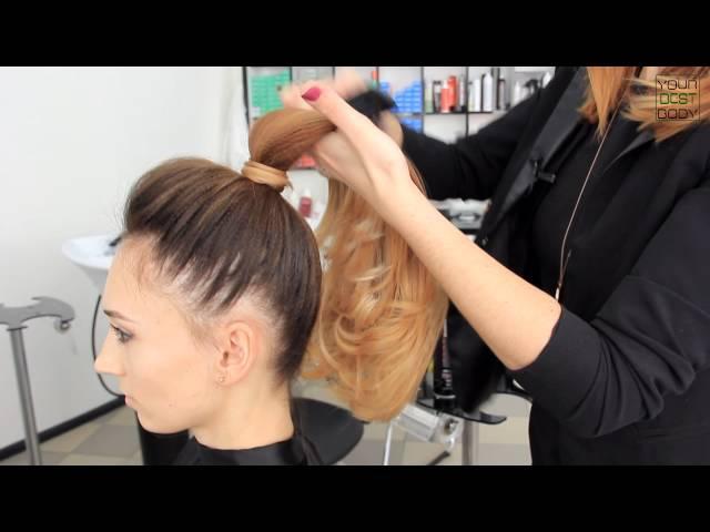 Как сделать красивый высокий хвост из волос. Быстрая легкая прическа   YourBestBlog