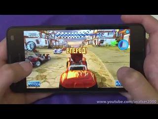 обзор Microsoft Lumia 550 - тест производительности в гонках - Asphalt 8, GT2, 4x4 OffRoad и т.п.
