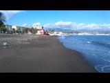 Пляжный коп после сильного шторма  Metal detecting on the beach after a strong storm