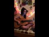 Девушка поёт песню под гитару ко дню матери!!! cover Баста - Мама