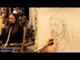 Обучение рисунку. Портрет. 11 серия построение и легкая светотень